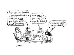A family discusses politics - Cartoon by David Sipress