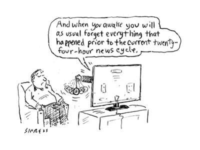 """""""And when you awake you will as usual forget everything that happened prio…"""" - Cartoon by David Sipress"""