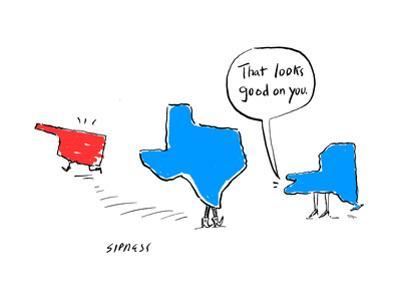 """That looks good on you."" - Cartoon"