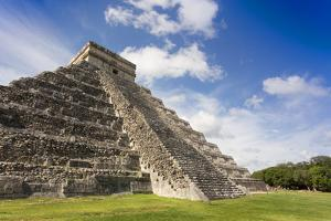 Mexico, Chichen Itza. the East Side of the Main Pyramid by David Slater
