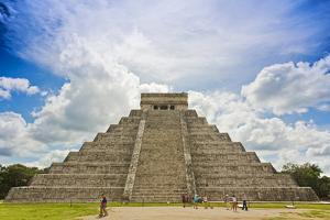Mexico, Chichen Itza. the North Side and Main Stairway of the Main Pyramid by David Slater