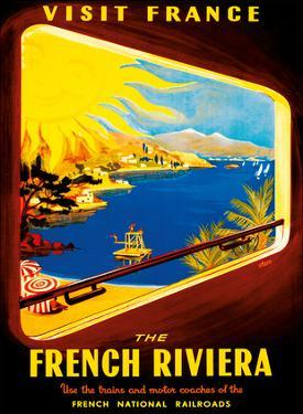 Visit France - The French Riviera - Use Trains and Motor Coaches of the French National Railroads by David Starr