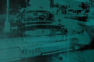 Abstract Green Car by David Studwell