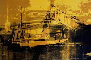 Yellow Car and Street Sign by David Studwell
