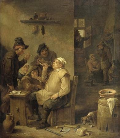 Bricklayer Smoking a Pipe, 1630-60 by David Teniers