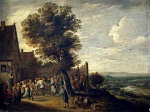 David Teniers / Village Feast, 1640-1650 by David Teniers