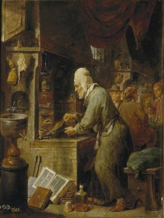 An Alchemist, 1631-1640 by David Teniers the Younger