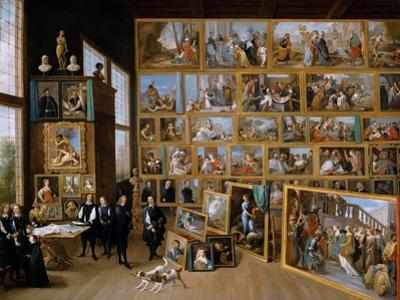 Archduke Leopold Wilhelm in His Gallery in Brussels, Ca 1651 by David Teniers the Younger