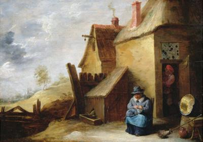 Cottage in a Landscape by David Teniers the Younger
