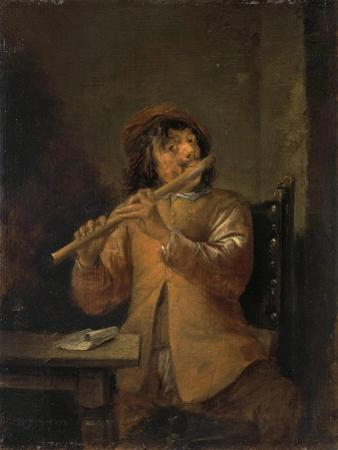 Flautist, 1630S by David Teniers the Younger