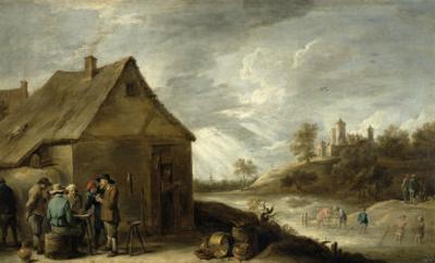 Inn by a River by David Teniers the Younger