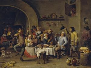 The Bean King (The Feast of the Bean Kin) by David Teniers the Younger