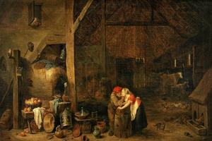 The Old Man and the Maid, C. 1650 by David Teniers the Younger