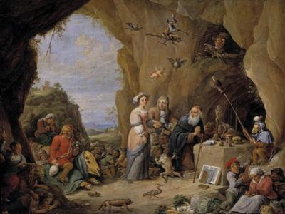 The Temptation of Saint Anthony, Mid of 17th C by David Teniers the Younger