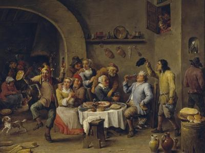 Twelfth Night Party, 1650-1660 by David Teniers the Younger