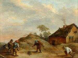 Men Playing At Bowls by David the Younger Teniers
