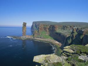 The Old Man of Hoy, 150M Sea Stack, Hoy, Orkney Islands, Scotland, UK, Europe by David Tipling