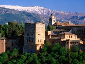 Alhambra Seen from Mirador San Nicolas in Albaicin District, Granada, Andalucia, Spain by David Tomlinson