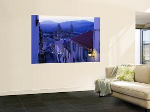 Cathedral from Narrow Street on Cerro Santa Catalina Hill at Dusk by David Tomlinson