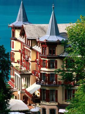 Grandhotel Giessbach and Lake Brienz, Brienz, Bern, Switzerland by David Tomlinson