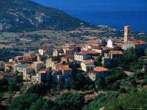 Hillside Village, Aregno, Corsica, France by David Tomlinson