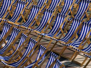 Seats in Front of the Bandstand at Eastbourne, Eastbourne, East Sussex, England by David Tomlinson