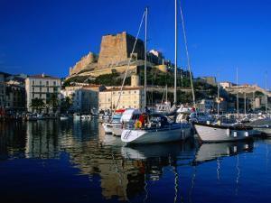 The Harbour and Citadel, Bonifacio, Corsica, France by David Tomlinson