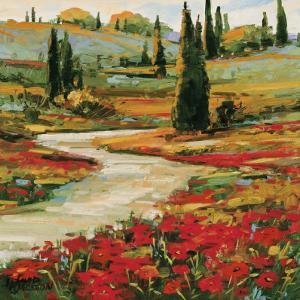 Hills in Bloom II by David W. Jackson