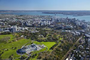 Aerial of Auckland, North Island, New Zealand by David Wall
