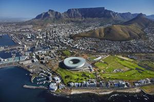 Aerial of Stadium, Golf Club, Table Mountain, Cape Town, South Africa by David Wall
