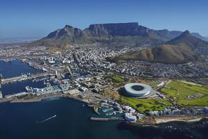 Aerial of Stadium,Waterfront, Table Mountain, Cape Town, South Africa by David Wall