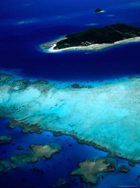 Aerial View of Island Also Known as Castaway Island, Fiji by David Wall