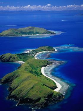 Aerial View of Islands with Yanuya Island in Foreground, Fiji by David Wall