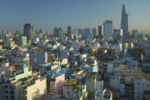 Apartments and Bitexco Financial Tower, Ho Chi Minh City, Saigon, Vietnam by David Wall