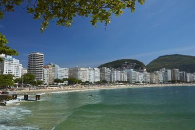 Apartments and Copacabana Beach, Rio de Janeiro, Brazil by David Wall