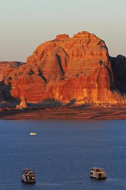 Arizona, Houseboats on Lake Powell at Wahweap by David Wall