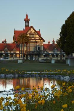 Bath House, Government Gardens, Rotorua, North Island, New Zealand by David Wall