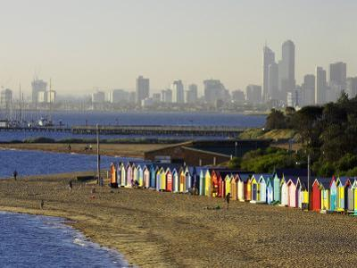 Bathing Boxes, Middle Brighton Beach, Melbourne, Victoria, Australia by David Wall