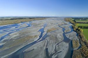 Braids of Rakaia River, near Rakaia River Mouth, Mid Canterbury, South Island, New Zealand by David Wall