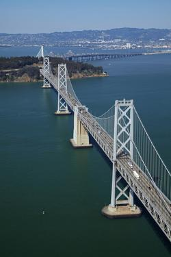 California, Bay Bridge, San Francisco Bay to Yerba Buena Island by David Wall