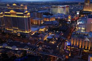 Casinos and Hotels Line the Vegas Strip, Las Vegas, Nevada by David Wall
