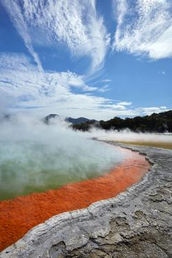Champagne Pool, Waiotapu Thermal Reserve, near Rotorua, North Island, New Zealand by David Wall