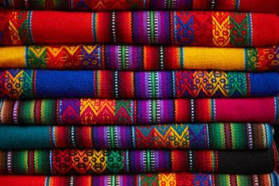 Colorful cloth, Cusco, Peru by David Wall