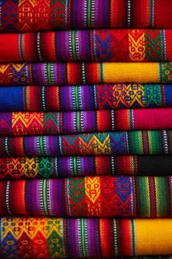Colorful cloth, Cusco, Peru by David Wall