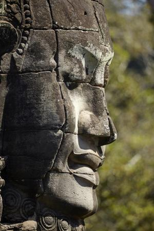 Face Thought to Depict Bodhisattva Avalokiteshvara, Angkor World Heritage Site by David Wall
