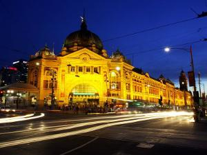 Flinders Street Station, Melbourne, Victoria, Australia by David Wall