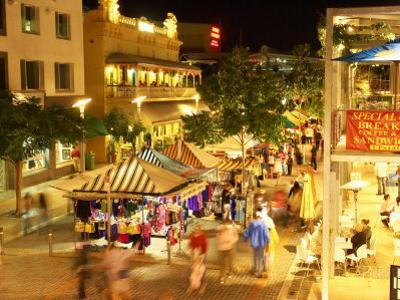 Friday Night Market, South Bank Parklands, Brisbane, Queensland, Australia by David Wall