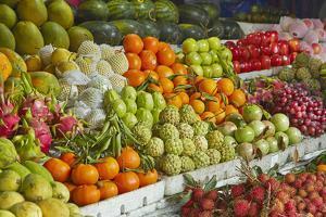 Fruit stall, Central Market, Hoi An, Vietnam by David Wall