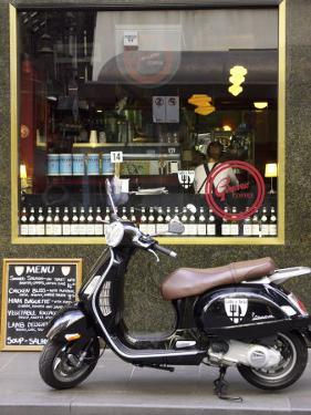 Genovese Coffee and Vespa, Little Collins Street, Melbourne, Victoria, Australia by David Wall
