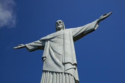 Giant statue of Christ the Redeemer atop Corcovado, Rio de Janeiro, Brazil by David Wall